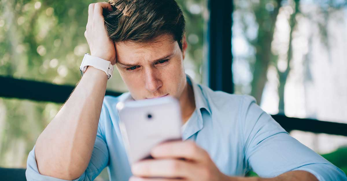 Guy wondering about why online dating is depressing